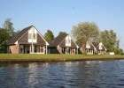 bungalows by the waterside in Friesland